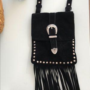 Black Fringe crossbody bag